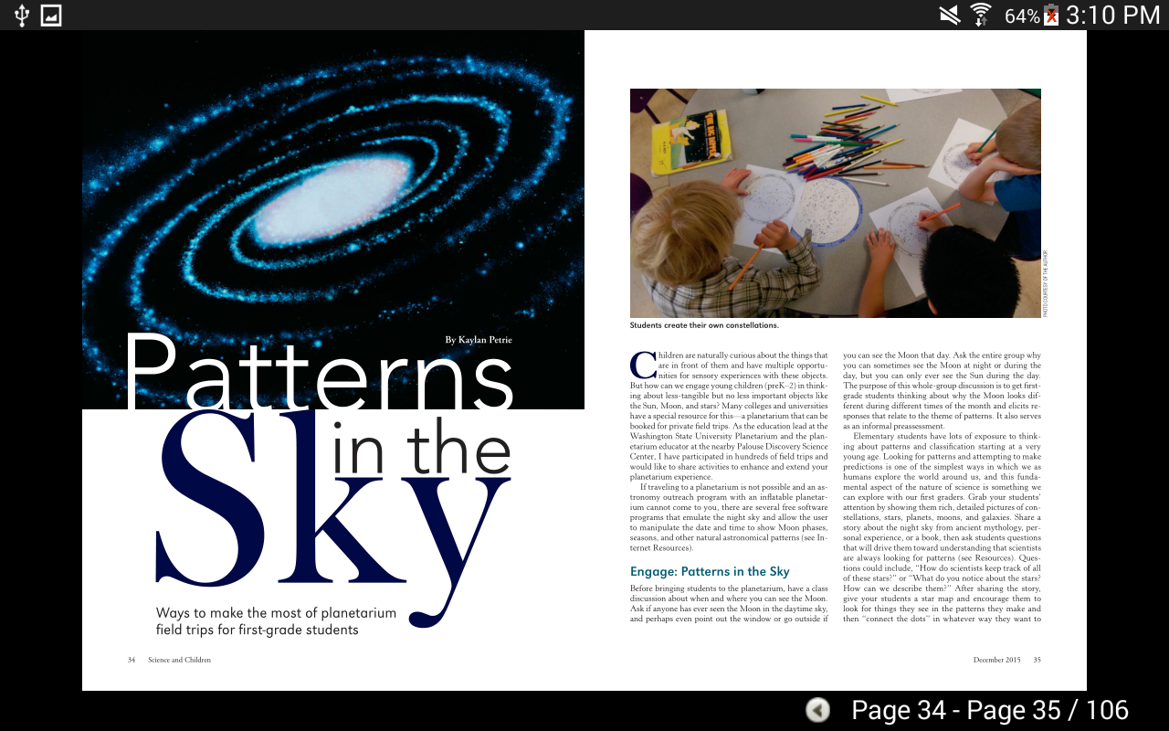 Science & Children Magazine- screenshot