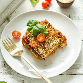 Lentil & Eggplant Lasagna.