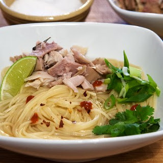 Asian Inspired Turkey Noodle Bowl.