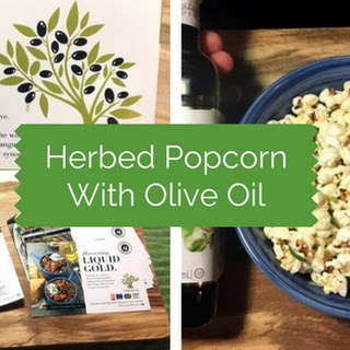 Herbed Popcorn Drizzled With Italian Olive Oil - A Recipe for the Flavor Your Life Campaign.