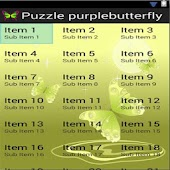 Puzzle Purple Butterfly