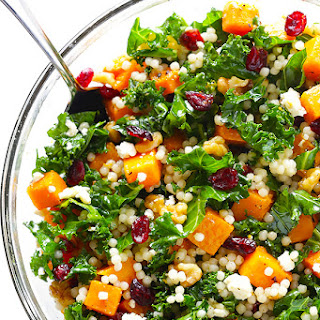 Roasted Butternut Squash, Kale and Cranberry Couscous