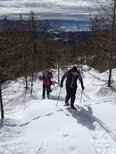 Photo: Feb 2014 snowshoe on Mom' - Stigs connector. clear cut in winter