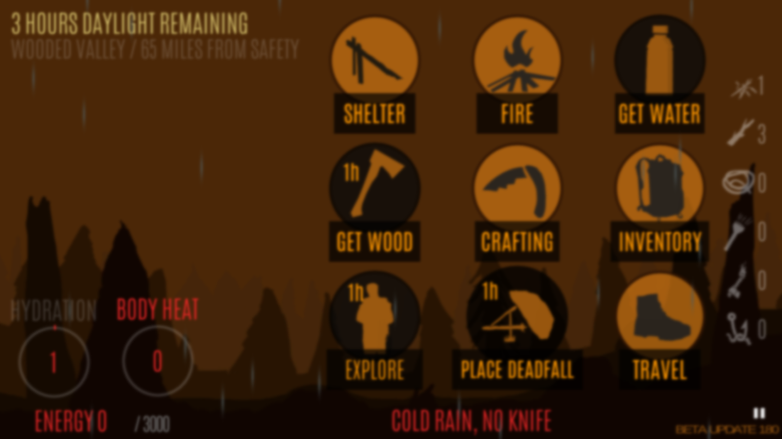 Survive - Wilderness survival- screenshot