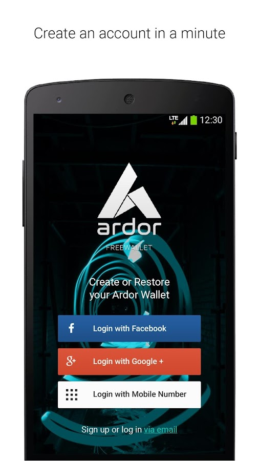 Ardor Wallet- screenshot