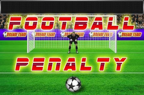 Football penalty. Shots on goal. 1