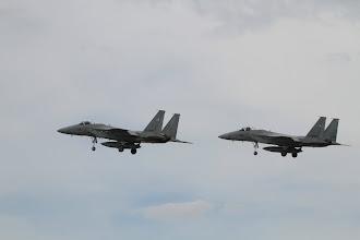 Photo: 編隊飛行のF-15J 113mmで撮影