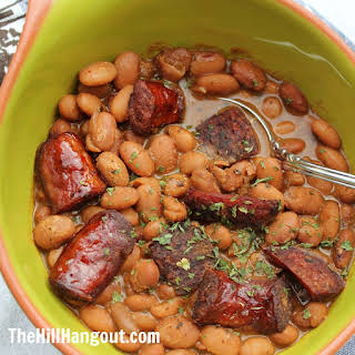 Creole Pinto Beans and Sausage.