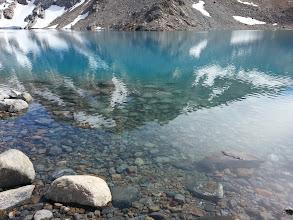 Photo: The crystal clear glacier water at Log De Los Tres, below Fitz Roy