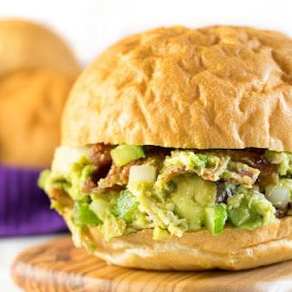 Bacon Avocado Chicken Salad Sandwiches.