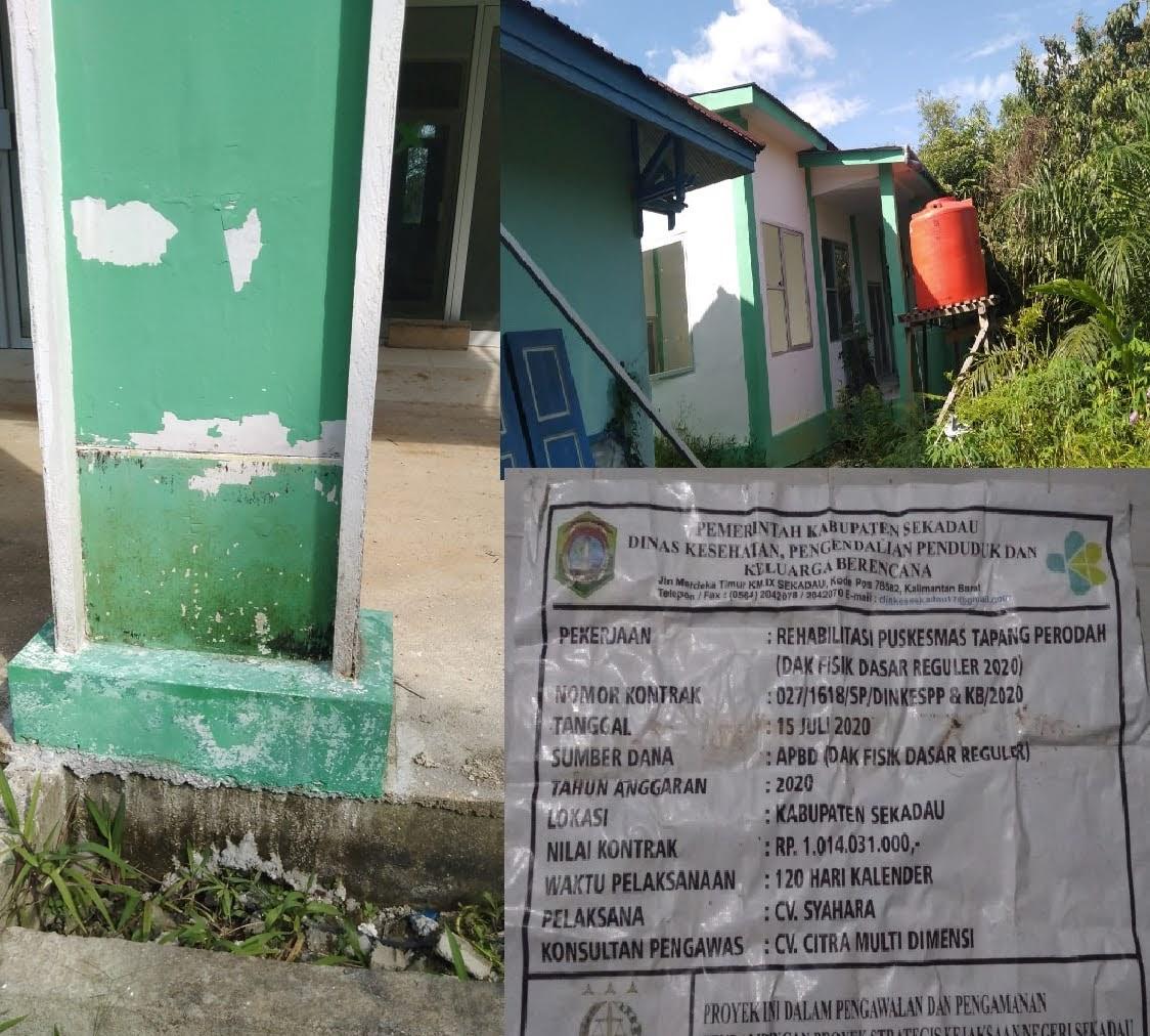 Ketua LTI Berharap : Kejari Sekadau Secepatnya Panggil Pelaksana Proyek Pembangunan Puskesmas Tapang Perodah