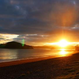 early morning Bay Of Islands by Aaron Stephenson - Landscapes Sunsets & Sunrises ( sunrise, beach, nz, paihia, northland, landscape )