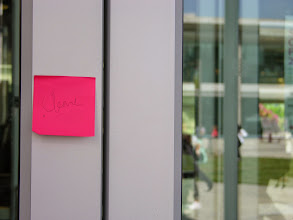 Photo: Building cleared pink tag