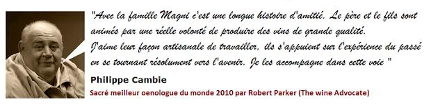 Cambie parle du Domaine Magni