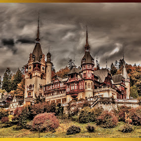 Peles Palace by Mihai  Costea - Buildings & Architecture Public & Historical ( interior, spaces, building, hdr, exteriors, exterior, architecture, space, engineering, tilt shift, landmark, landmarks, interiors, buildings, tiltshift, , World, Beauty, Beautiful, Representing, Special, travel, panorama, panoramic, stitching, landscape, indoor, outdoor, challenge, competiton, vintage, wood, closeup, quality, detail, new, fresh, win, 2013, 2014, long, exposure, daytime, edition, #GARYFONGDRAMATICLIGHT, #WTFBOBDAVIS )