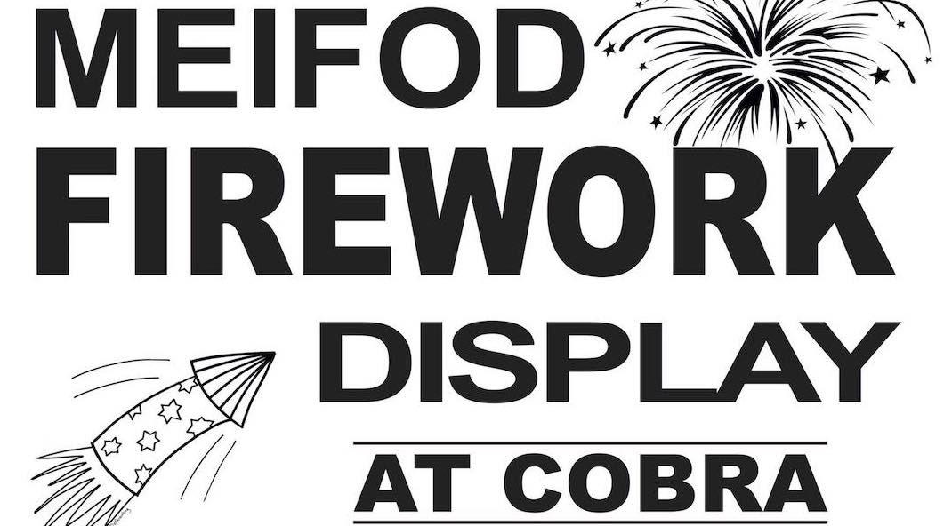 Fireworks in Meifod