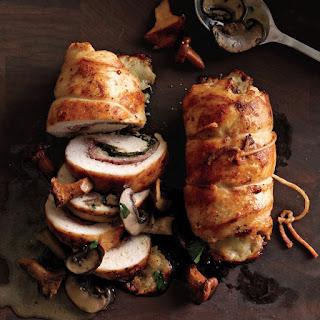 Prosciutto-Stuffed Chicken with Mushroom Sauce Recipe | Epicurious.Com Recipe