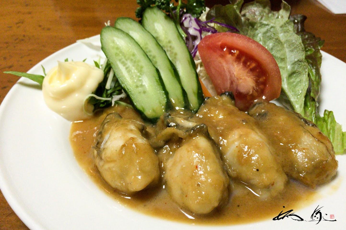 牡蠣の味噌焼
