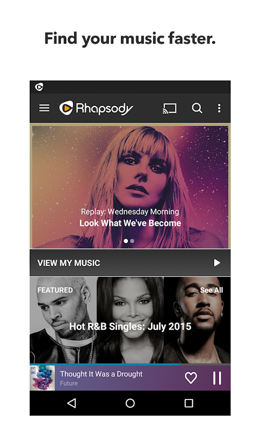 Rhapsody Music Player- screenshot
