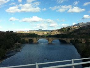 Photo: The medieval bridge in Hora, center of the La Rioja wine district.