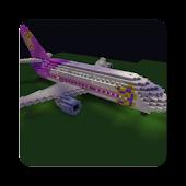 Airplane minecraft wallpaper
