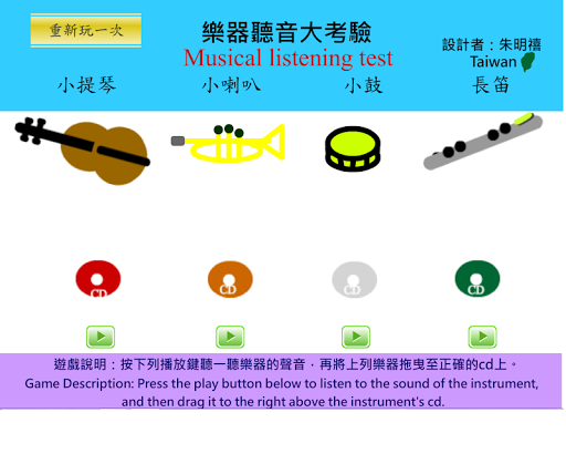 四種樂器的聽音辨識