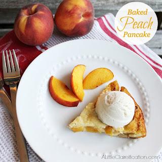 Baked Peach Pancake