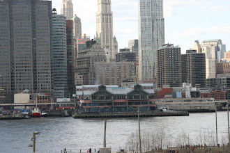 Photo: Pier 17 across the East River from the Brooklyn Heights Promenade.