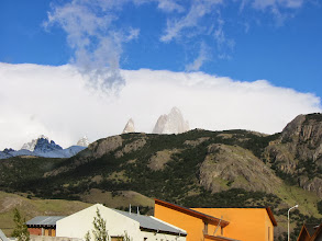 Photo: Fitz Roy (taken from our bedroom window...it was there all along!)