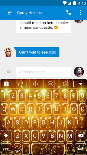 玩免費遊戲APP|下載Gold Keyboard -Funny Gif app不用錢|硬是要APP