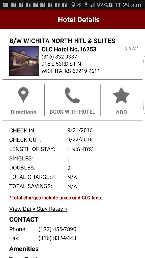Clc Lodging Hotel Locator Screenshot