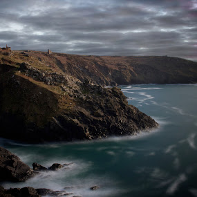 Poldark by Tony Simcock Eadie - Landscapes Cloud Formations ( history, clouds, moody, architecture, seascape, landscape,  )