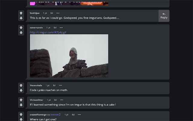 Embedded comment images for Imgur (Beta)