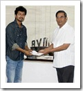 Vijay with AVM