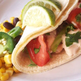 Grilled Fish Tacos With Chipotle-lime Dressing.