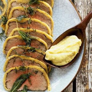 Pecorino Polenta Wrapped Beef