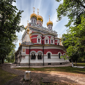 Memorial Temple of the Birth of Christ by Petar Shipchanov - Buildings & Architecture Public & Historical ( religion, history, temple, shipka, memorial, church, monastery, tourism, historical, gold, historic, bulgaria )
