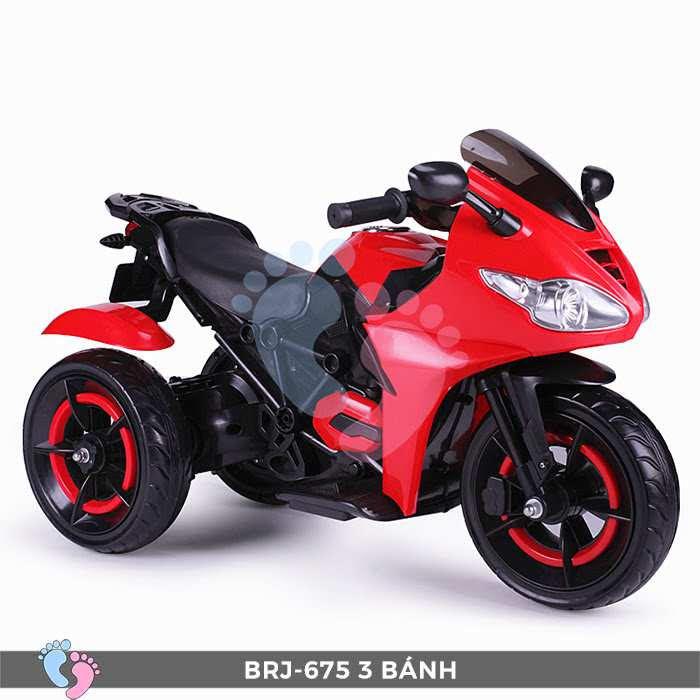 Xe moto điện trẻ em BRJ-675 3 bánh 13