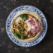 Chicken Shawarma on Hummus