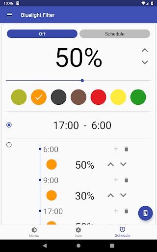 Bluelight Filter for Eye Care - Auto screen filter screenshot 19