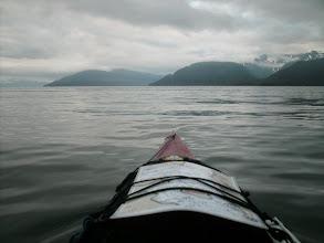 Photo: Heading across Taku Inlet toward Gastineau Channel and Juneau.