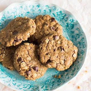 Peanut-Free Peanut Butter Oatmeal Chocolate Chip Cookies.
