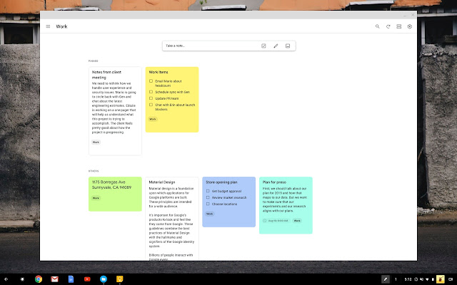 Google Keep - notes and lists - Chrome Web Store