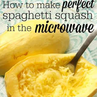 Microwave Spaghetti Squash.