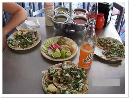 tacos on a table