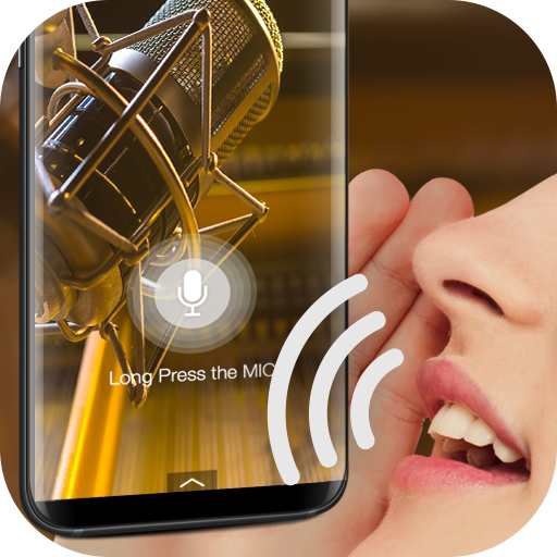 Voice detection style lock screen for prank