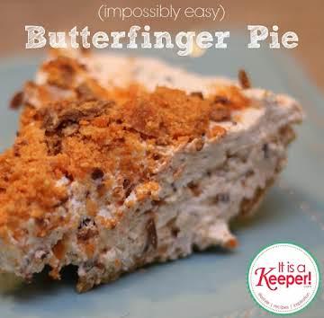 Easy No Bake Butterfinger Pie