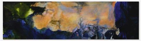 Zao Wou-Ki, Juin-Octobre 1985, 1985, acrylique sur toile adjugée 49518900 euros par Sotheby's Hong Kong en 2019