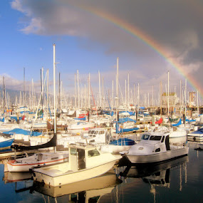 After the storm, the rainbow by Greg Harrington - Landscapes Weather