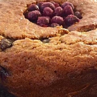Rustic Banana, Blueberry And Coconut Cake.